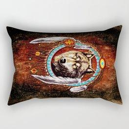 Indian Native Wolf Dreamcatcher iPhone 4 5 6 7, ipod, ipad, pillow case and tshirt Rectangular Pillow