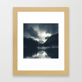 Darkness and rain at Zgornje Jezersko, Slovenia Framed Art Print