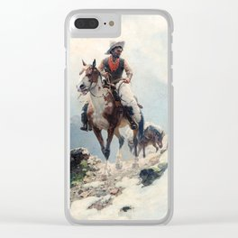 """William Leigh Western Art """"The Bear Tracker"""" Clear iPhone Case"""