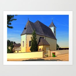 The village church of Sankt Stefan II | architectural photography Art Print