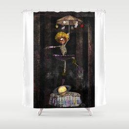 Dancing Clown On Saturn Shower Curtain