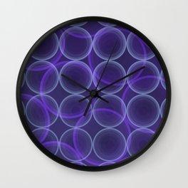 Purple Go Round Wall Clock