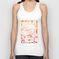 it crowd Tank Tops featuring Monster crowd by dreadpen