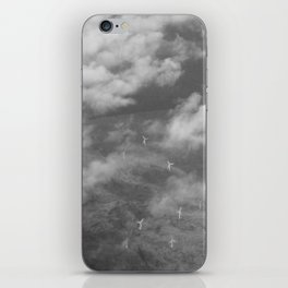Aerial Photograph of wind turbines iPhone Skin
