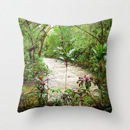 Deep into the Rainforest Throw Pillow