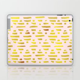 Gold Abstract Lines Pattern Laptop & iPad Skin