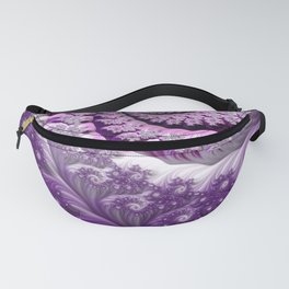 Beautiful Bloom of Lilacs Lavender Fractal Spiral Fanny Pack
