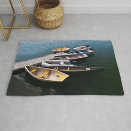 Boats in the Harbor Rug