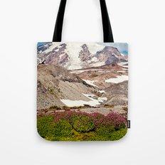 Mount Rainier Hike Tote Bag