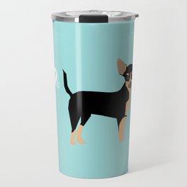 Chihuahua funny fart dog pure breed gifts dog lovers black and tan Travel Mug