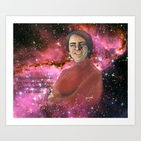 carl sagan Art Prints featuring Carl Sagan  by Madison Gremillion