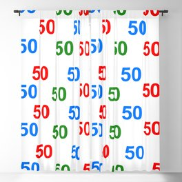 number pattern, colorful pattern 50, anniversary 50, gift 50 Blackout Curtain