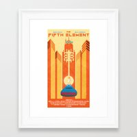 fifth element Framed Art Prints featuring Fifth Element Poster by Joshua M. Nelson