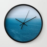 abyss Wall Clocks featuring Abyss by emmacanfield