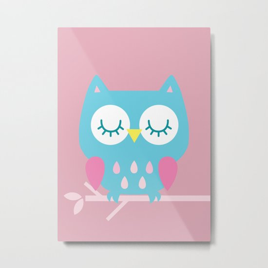 owl 42 Metal Print