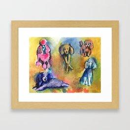Poodles Framed Art Print