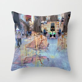 Summer space, smelting selves, simmer shimmers. 22 Throw Pillow