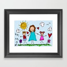 To Mom With Love Framed Art Print