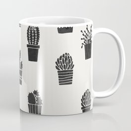 Southwestern Stamped Potted Cactus + Succulents Coffee Mug