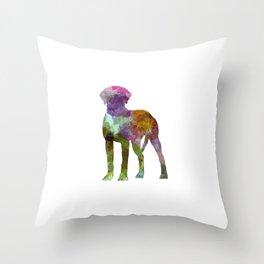 Rhodesian Ridgeback in watercolor Throw Pillow