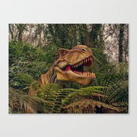 t rex Canvas Prints featuring T Rex by Shalisa Photography