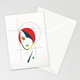 femme geometrical Stationery Cards