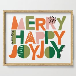 Merry Happy Joy Joy Serving Tray