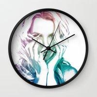 britney Wall Clocks featuring BRITNEY by Devon Jack