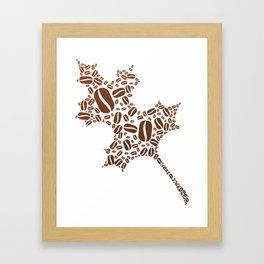 Coffee Bean Leaf Framed Art Print