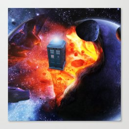 Space Tardis Canvas Print