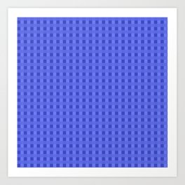 Retro Blue Squares Art Print