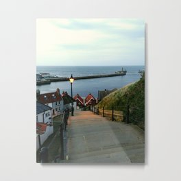 Whitby After Sun Down Metal Print