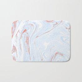 Blue Orange Marble Retro Marble Paper Bath Mat