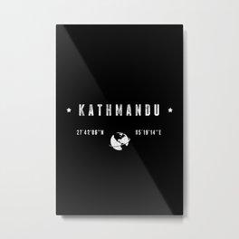 Kathmandu geographic coordinates Metal Print