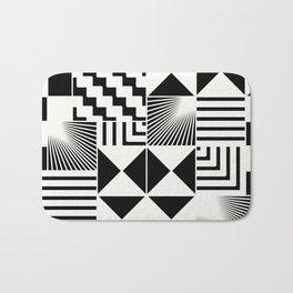 Mosaic Black And White Pattern Bath Mat