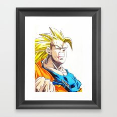 GOKU SSJ3 Framed Art Print