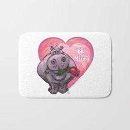Hippopotamus Valentine's Day Bath Mat