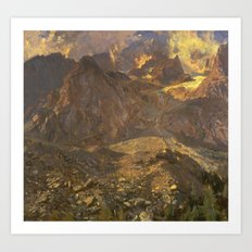 John Singer Sargent 1856–1925   Val d'Aosta Art Print