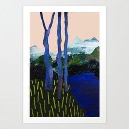 Ultra Blue Lagoon Art Print