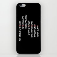 justice iPhone & iPod Skins featuring JUSTICE by Marianna