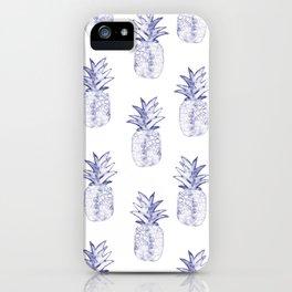 Blue Pineapple iPhone Case