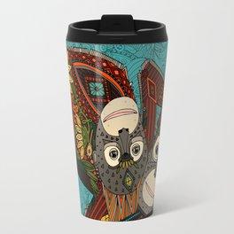 orangutans blue Travel Mug