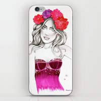 megan lara iPhone & iPod Skins featuring Megan by DLavArt