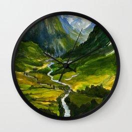 The Hidden Valley (original) Wall Clock