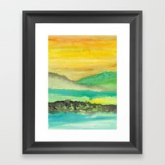 Watercolor abstract landscape 06 Framed Art Print
