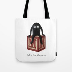 M is for Monster Tote Bag