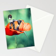 La fille au Coquelicot Stationery Cards