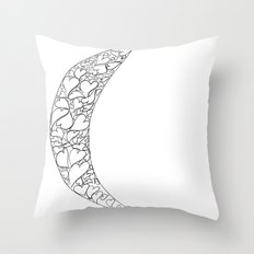 A Moon full of hearts Throw Pillow
