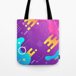 80s 90s Memphis Retro Pattern #4 Tote Bag