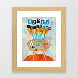 Menorah Framed Art Print